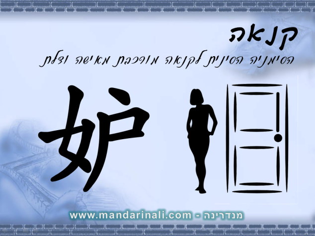 כך כותבים קנאה בסינית
