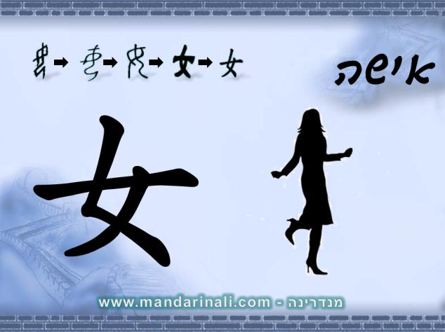 כך כותבים אישה בסינית