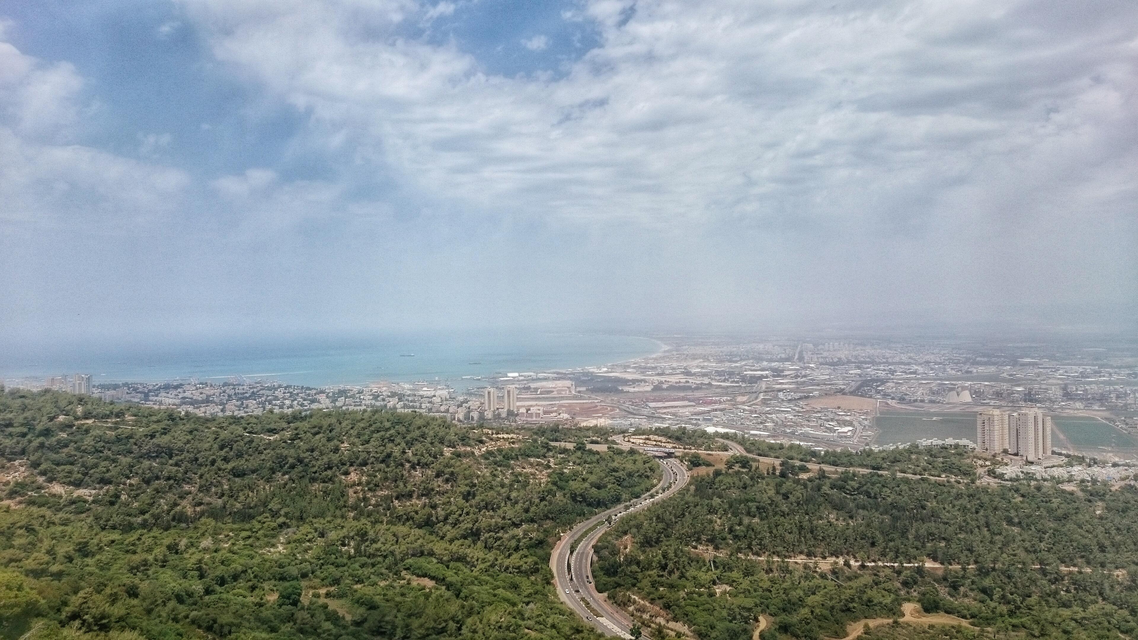 הנוף הנשקף מאוניברסיטת חיפה