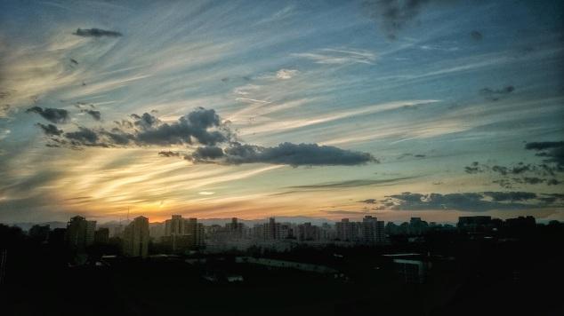 שקיעה בבייג'ינג