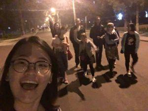 הליכת לילה באוניברסיטה השכנה