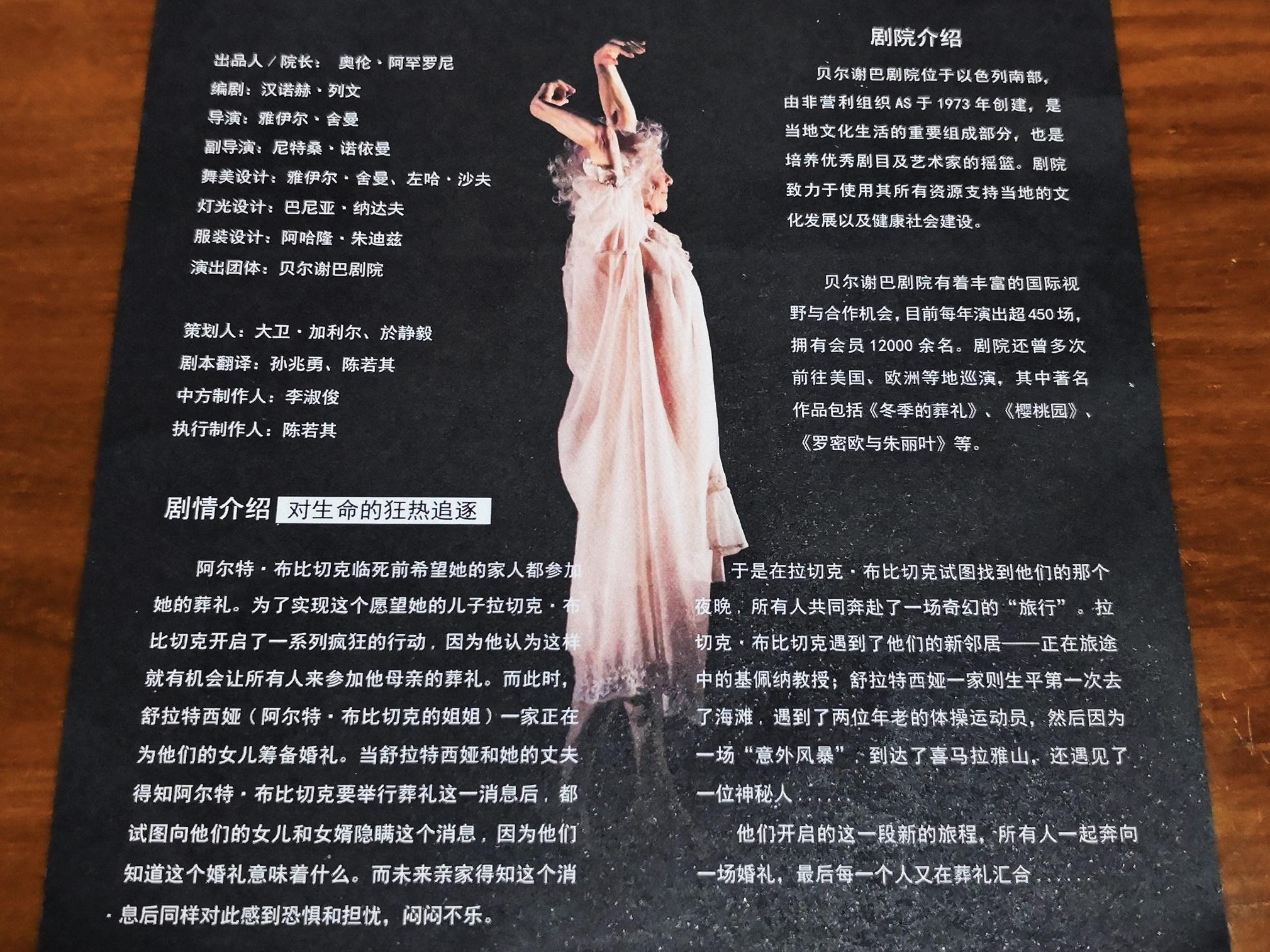 הלוויה חורפית - תוכניה סינית